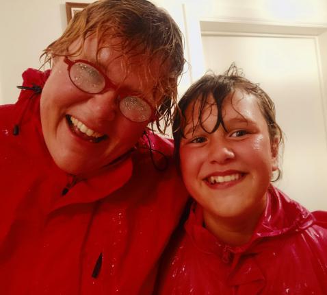 Evelien Lust en dochter Emma (11). © Lust