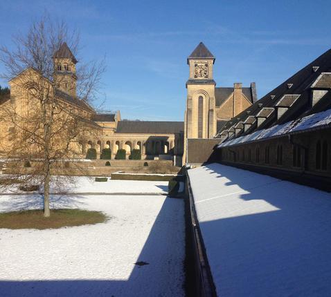 Sneeuw in Orval