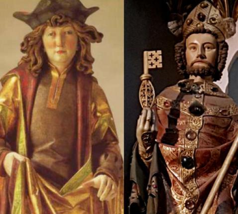 De 4 ijsheiligen: Mamertus, Pancratius, Servatius van Maastricht en Bonifatius van Tarsus © Wiki, rr