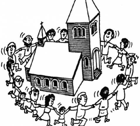 Samen rond het kerkgebouw