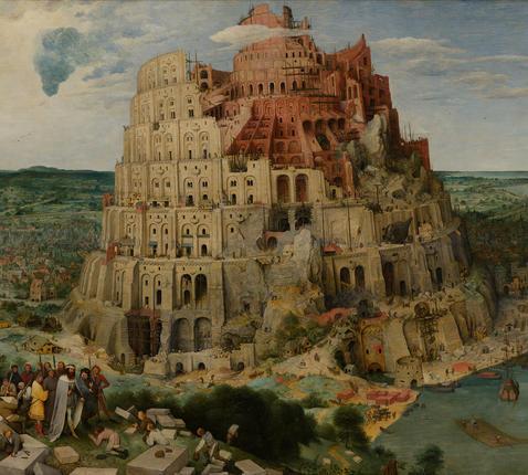 De toren van Babel (ca. 1563) van Pieter Bruegel de Oude (1525 - 1569) © Google Arts & Culture, Kunsthistorisches Museum Wien