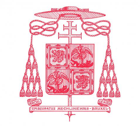 Wapenschild Aartsbisdom Mechelen-Brussel © communicatiedienst aartsbisdom Mechelen-Brussel