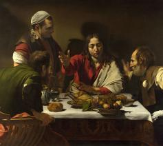 'Avondmaal in Emmaüs', Caravaggio. © Wikipedia