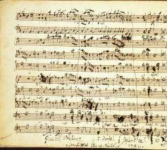 Een blik op de originele partituur van Messiah. © Wikipedia