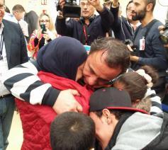Enkele van de Syrische vluchtelingen die via een veilige corridor in Italië arriveerden © Sant'Egidio