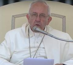 Paus Franciscus tijdens de algemene audiëntie van woensdag 7 juni 2017 © CTV