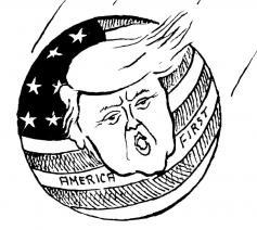 De cartoon van Nagel in Tertio © Tertio
