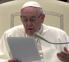 Paus Franciscus tijdens zijn catechese op de algemene audiëntie van woensdag 10 januari 2018 © VaticanNews
