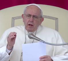 Paus Franciscus tijdens de algemene audiëntie van woensdag 28 maart 2018 © Vatican News