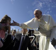 Paus Franciscus tijdens zijn catechese over het vijfde gebod op de algemene audiëntie van woensdag 10 oktober 2018 © VaticanMedia