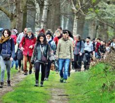 Frans' hike, een wandeltocht door Syriërs in Nederland ter nagedachtenis van pater Frans van der Lugt. © Shadan Alhamwy