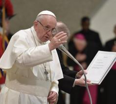 Paus Franciscus tijdens de algemene audiëntie © VaticanMedia
