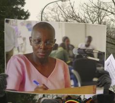 Aanhangers van Victoire Ingabire in Nederland demonstreerden begin 2013 voor haar vrijlating    © RR/Tertio