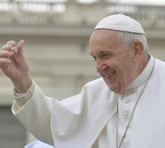 Paus Franciscus tijdens de algemene audiëntie van woensdag 15 mei 2019 © VaticanNews