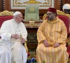 Paus Franciscus en de Marokkaanse koning Mohammed VI © VaticanNews