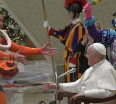 Paus Franciscus tijdens de algemene audiëntie van woensdag 8 januari 2020 © VaticanMedia