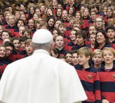 Paus Franciscus tijdens de algemene audiëntie van woensdag 29 januari 2020 © VaticanMedia
