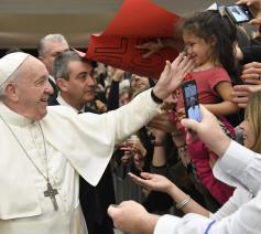 In zijn catechese over de Zaligsprekingen tijdens de algemene audiëntie behandelde de paus op woensdag 12 februari de tweede: Zalig de treurenden © VaticanMedia