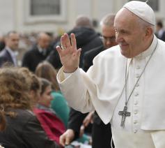Paus Franciscus tijdens de algemene audiëntie van Aswoensdag 26 februari 2020 © VaticanMedia