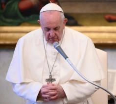 Paus Franciscus tijdens de algemene audiëntie van woensdag 17 juni 2020 © VaticanMedia