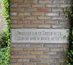 Hoeksteen Emmauskerk in Halle © Pieter Stevens