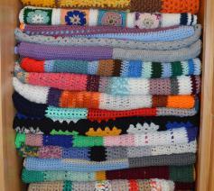 eerste twintig gehaakte dekentjes © Ingrid Vrints