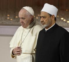 Paus Franciscus en grootimam Ahmed Al-Tayyeb op 4 februari 2019 in Abu Dhabi  © VaticanMedia