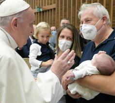 Paus Franciscus tijdens de algemene audiëntie van woensdag 7 oktober 2020 © VaticanMedia