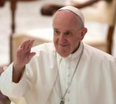 Paus Franciscus tijdens de algemene audiëntie van woensdag 14 oktober 2020 © VaticanMedia