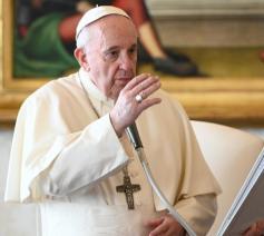 Paus Franciscus tijdens de algemene audiëntie van woensdag 25 november 2020 © VaticanMedia