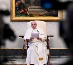 Paus Franciscus tijdens de algemene audiëntie van woensdag 3 februari 2021 © VaticanMedia