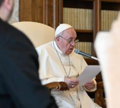 Paus Franciscus tijdens de algemene audiëntie van woensdag 10 maart 2021 © VaticanNews