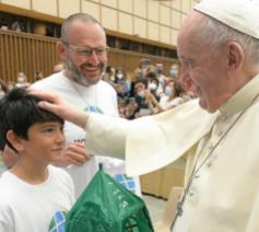 Paus Franciscus tijdens de algemene audiëntie van woensdag 1 september 2021 © VaticanMedia