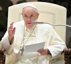 Paus Franciscus tijdens de algemene audiëntie van woensdag 8 september 2021  © VaticanMedia