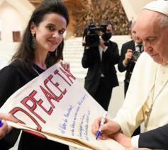 Paus Franciscus tijdens de algemene audiëntie van woensdag 6 oktober 2021 © VaticanMedia