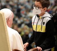 Paus Franciscus tijdens de algemene audiëntie van woensdag 20 oktober 2021 © VaticanMedia