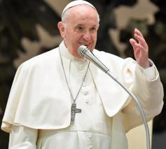 Paus Franciscus tijdens de algemene audiëntie van woensdag 27 oktober 2021 © VaticanMedia