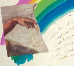 Luca Patella, Het teken van de regenboog, 1986 © Edizioni Stauros