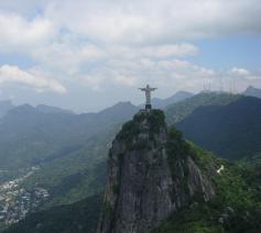 Christus de Verlosser boven Rio de Janeiro, Brazilië. © Iko