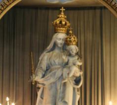 Het Mariabeeld dat aan de oorsprong ligt van het bekende lied. © Website Sint-Barbaracollege Gent