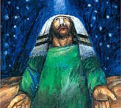 Sieger Köder - Abraham die nacht von Hebron © @ Sieger Köder-stiftung Kunst und Bibel, Ellwangen