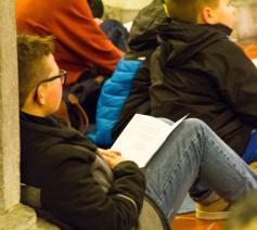 Jongeren tijdens een adventsontmoeting. © Koen Van den Bossche