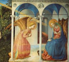 De Annunciatie (Boodschap van de aartsengel Gabriël aan Maria) van Fra Angelico © RR