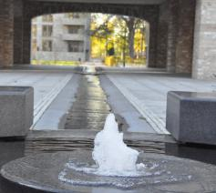 De bron in huis Aqua Viva in Nijmegen