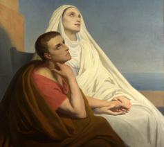 Augustinus en zijn moeder Monica, door Johann Dréo. © WikiCommons