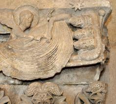 De slaap van de wijzen, kapiteel uit de kathedraal van Autun © Wikipedia