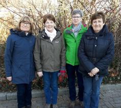Huguette, Paula, Gerda en Lena