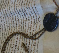 Oud handschrift uit het bisschoppelijk archief Brugge