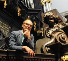 Bart Rodyns, de nieuwe titularis organist van de Antwerpse Sint-Pauluskerk  © RR