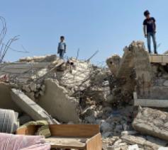 In 2020 vernielde Israël volgens het Bureau voor Coördinatie van Humanitaire Aangelegenheden nog eens zowat 850 Palestijnse huizen, zoals hier in september in Beit Sira in Ramallah op de Westelijke Jordaanoever © UN-OCHA